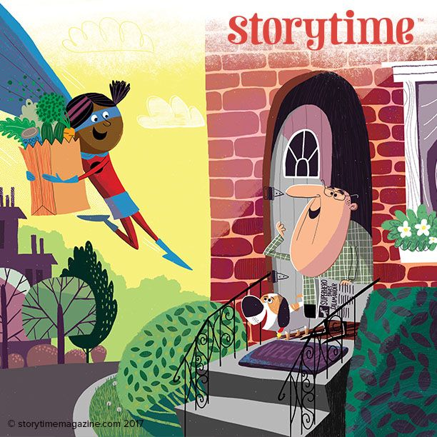 Our superhero saves the day in our new story Superhero Supermarket by Paul Bristow (http://paulbristow.blogspot.co.uk), illustrated by @joshcleland in Storytime Issue 34! ~ STORYTIMEMAGAZINE.COM