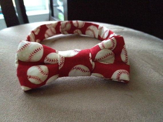 Baseball Dog Bow Tie size Medium by BellieBoop on Etsy, $12.00