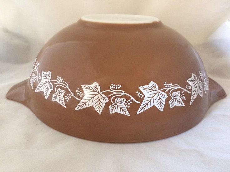 VERY RARE Vintage Pyrex Brown Sandalwood 4 Qt Cinderella Mixing Bowl 444 OOAK #PYREX