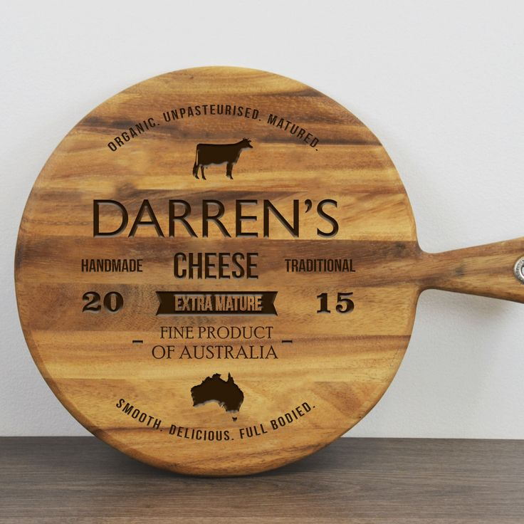 Gift Society   Personalised Traditional Cheese Paddleboard