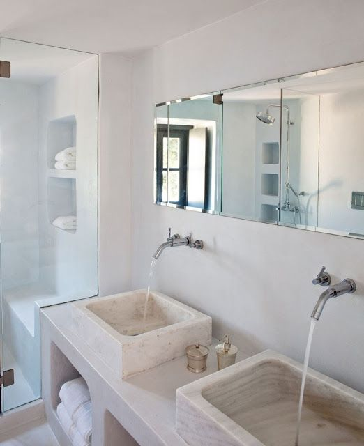 Lavabos Vidrio Para Baño:Greek Interior Bathroom Design