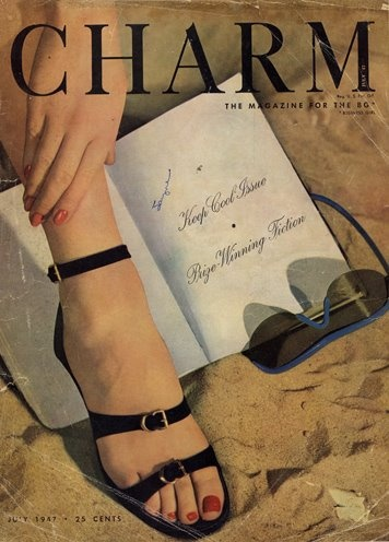 Charm Magazine 1947 (later incorporated by Glamour) ~ could wear these sandals right now!