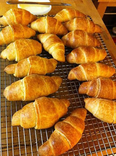 World's Easiest Crescent Rolls - These were really good, but not this pretty.  We used sour cream.  Will try again with cream cheese with a milk wash on top before baking.  TRY IT!