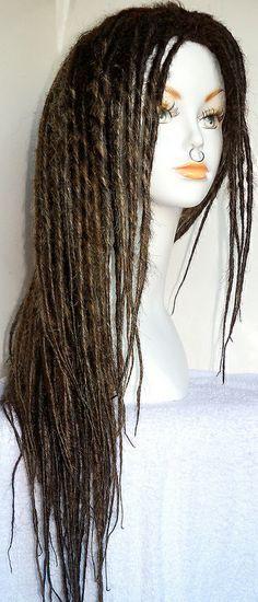 custom dread wig ombre dark brown from damnationhair.com #damnationhair