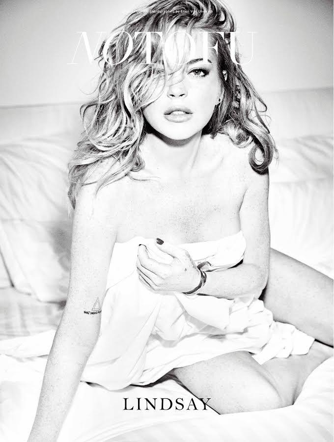 NO TOFU Winter 2015 : Lindsay Lohan by Ellen Von Unwerth
