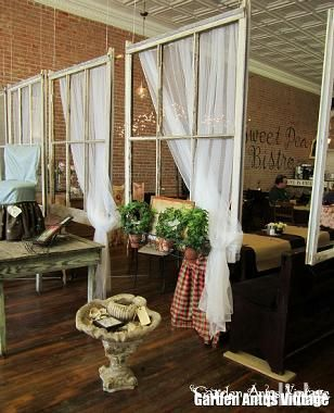 I would love to have a place to hang old windows like this.....amazing!