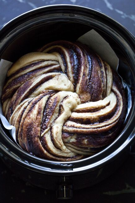 Crock pot Nutella bread