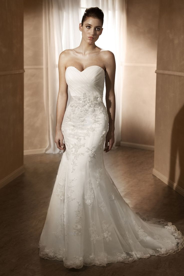 Stunning With Sweetheart Neckline Bodice Features Crossover Tulle Overlay Satin Ribbon Sash And Beaded Waist Detail