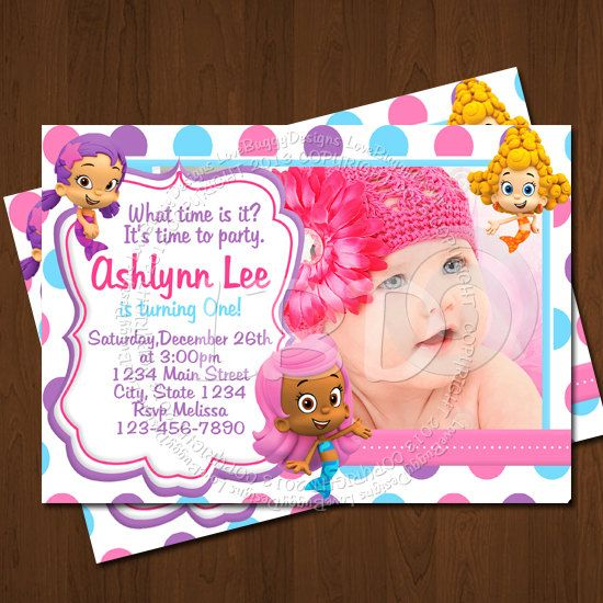 Bubble Guppies Invitation, Bubble Guppies Birthday Invitations, Photo Bubble Guppies Party Printables - YOU PRINT - Style14 on Etsy, $10.99