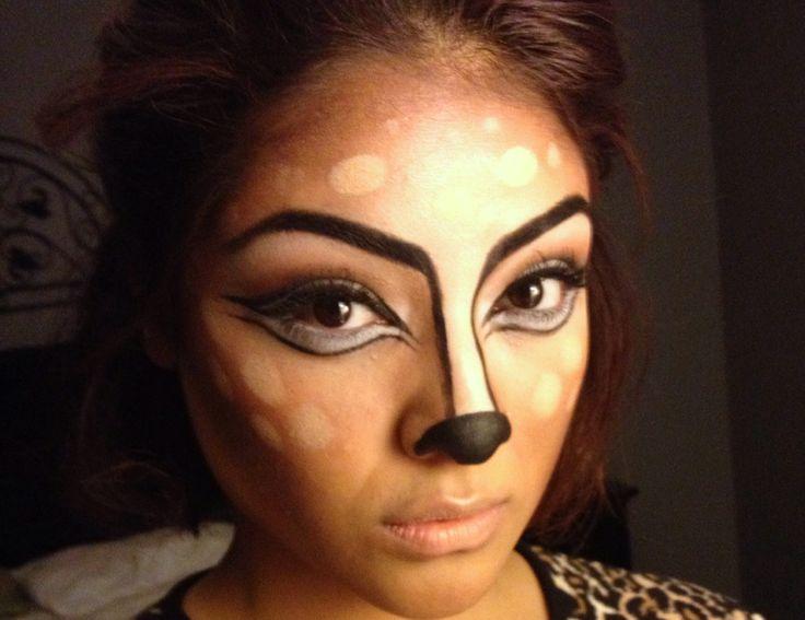 Bambi inspired Halloween Makeup Look