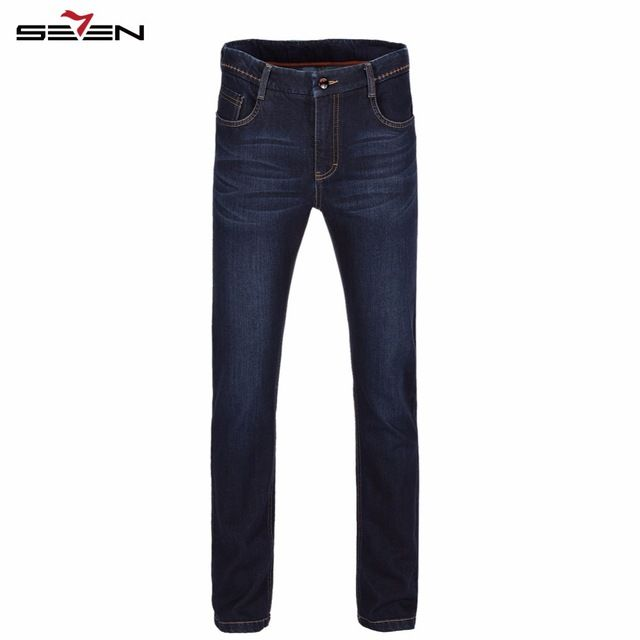Special price Seven7 Brand Men Jeans 2016 Slim Fit Jeans Fashion Men Pants High Quality Cotton Deep Blue 30-42 Men Jeans Skinny 707S85070 just only $22.94 with free shipping worldwide  #jeansformen Plese click on picture to see our special price for you
