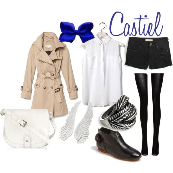 """""""Castiel"""" by catsandtea on Polyvore    Supernatural themed outfit?  Wayward Son forever! <3"""