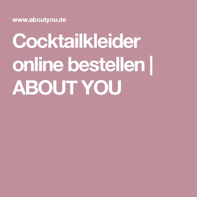 Cocktailkleider online bestellen | ABOUT YOU