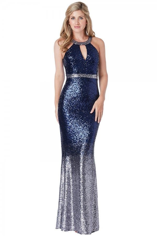 f95e7f7ed8a Goddiva Stephanie Pratt Ombre Halter Neck Sequin Maxi Dress - Goddiva from  Little Mistress UK