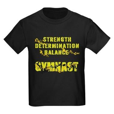 """Boy's """"Determined Gymnast"""" T-shirt (Dark). Heck, I'd wear this!"""