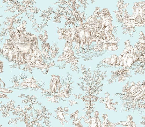 21 Best Toile Wall Paper Images On Pinterest: 96 Best Toile De Jouy Images On Pinterest
