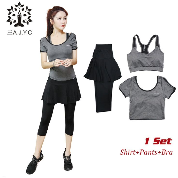 New Women 3 Pcs Yoga Set (shirt pants bra) Jogging Suits Fitness Gym Tracksuit Clothing Quick Dry Sports Suit 3 Colours -*- AliExpress Affiliate's buyable pin. Find similar products on www.aliexpress.com by clicking the image #Sportbras