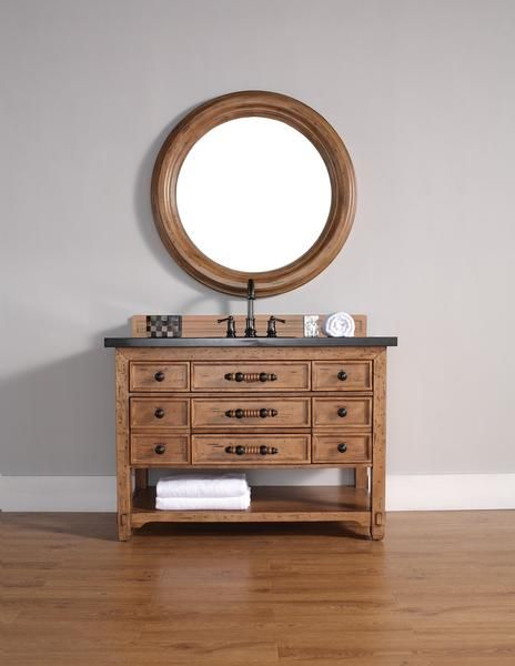 "Malibu 48"", James Martin Honey Alder Transitional Bathroom Vanity"
