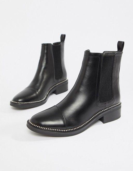 b1a6c0075b9d RAID Apple Black Studded Chelsea Boots