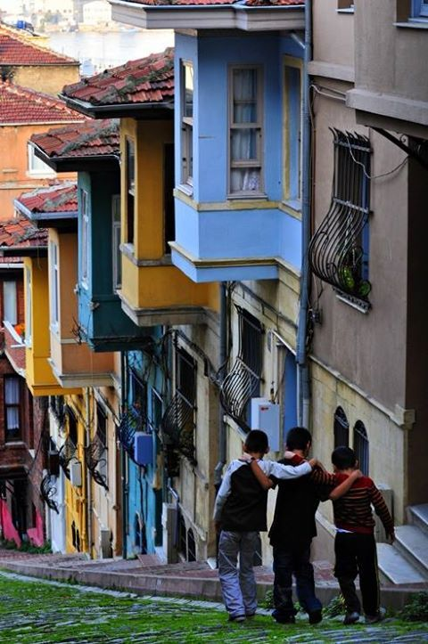 World in one page Balat Streets, Istanbul