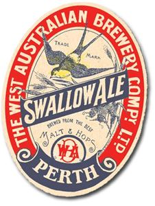 Swallow Ale - a wonderful, dynamic old style beer label