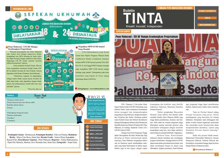 Buletin Tinta Edisi 38, 16 September 2016