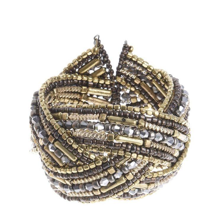 BRACELET ΙΝ BRONZE-GOLD COLORS - Bracelets - Jewellery - Accessories