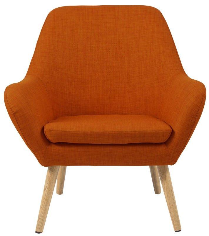 Boyd lænestol - Lænestol i orange m. egetræsben