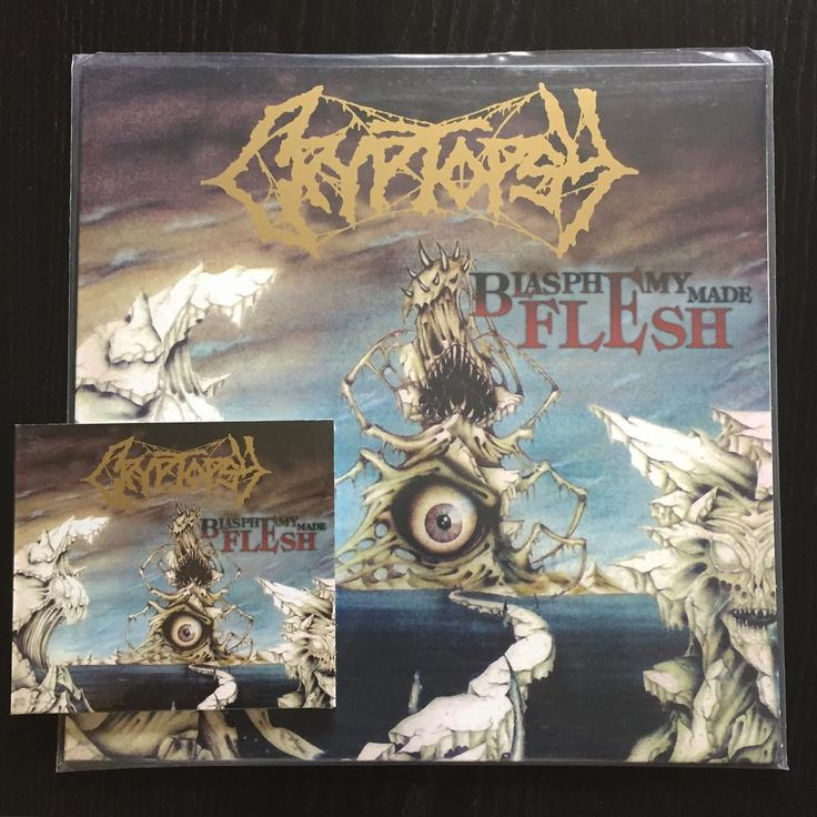"ON SALE Cryptopsy ""Blasphemy Made Flesh"" (2016 Hammerheart) CD 9,90€/LP 15,90€ www.everlastingspew.com  There is a monster within the dark confines of the technical death metal that emanates with everything that is perfectly not right in this world. That monster is Cryptopsy. ""Blasphemy Made Flesh"" shows us an embryonic Cryptopsy that is inexperienced at killing, yet still an able killer, and one that frequently rears its head into its maturity that we later called ""None So Vile"". As always…"