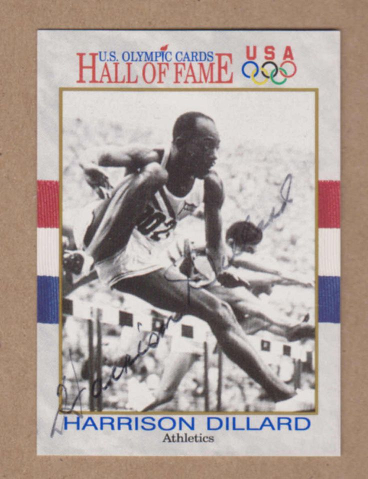 Harrison Dillard signed 1991 Impel US Hall of Fame Olympic card # 15