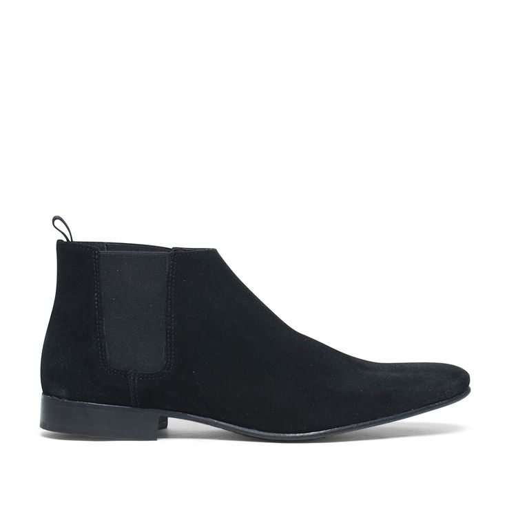 Zwarte suède chelsea boots #Boots #Chelsea boots