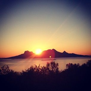 Midnight sun, Bodø, norway.