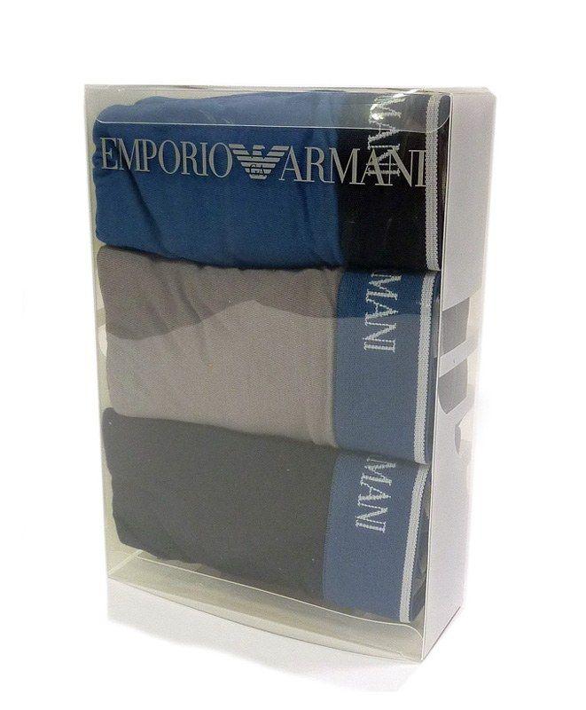 Pack de 3 calzoncillos Boxers Emporio Armani. ENVÍO 24/48h. Nuevos colores a precio rompedor. Prendas 100% originales. Más modelos en varela Intimo