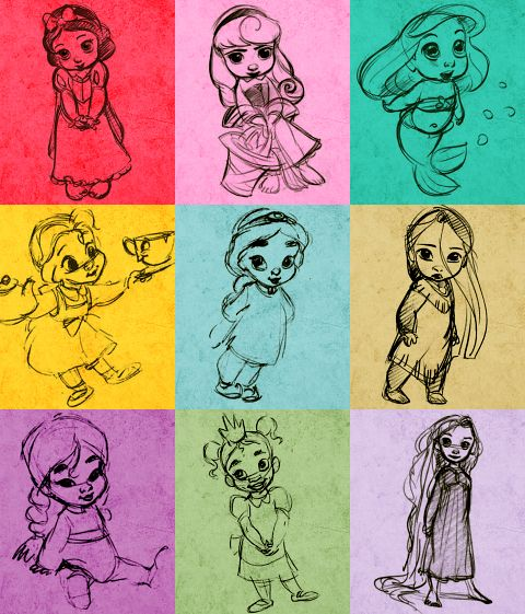 Disney Princess BABIES. when i have a baby someday, this will go in her room, its adorable.----LOVE this idea!