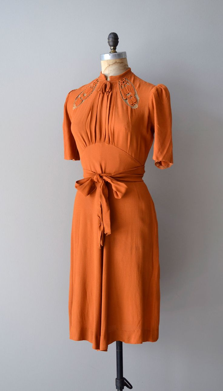 1930s dress / rayon 30s dress / The St. Louis Shag by DearGolden