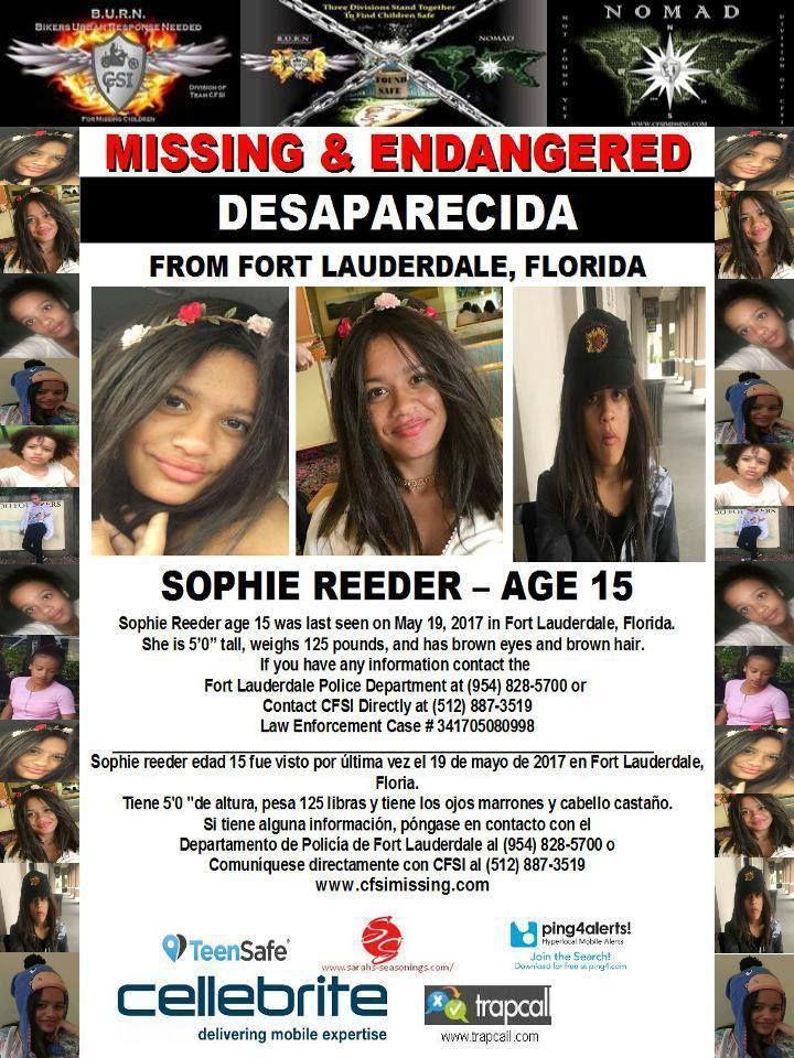 Find Sophie Reeder, Still Missing!