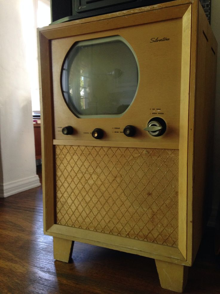 Vintage TV set in a Hollywood producer's home.