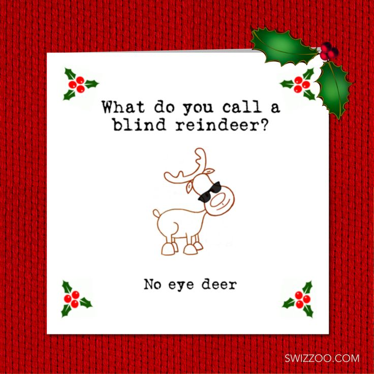 Excited to share the latest addition to my #etsy shop: Funny Handmade Christmas Card for kids, children, teacher. What do you call a blind reindeer? No eye deer http://etsy.me/2mRHYoo  #christmascard #christmasjoke