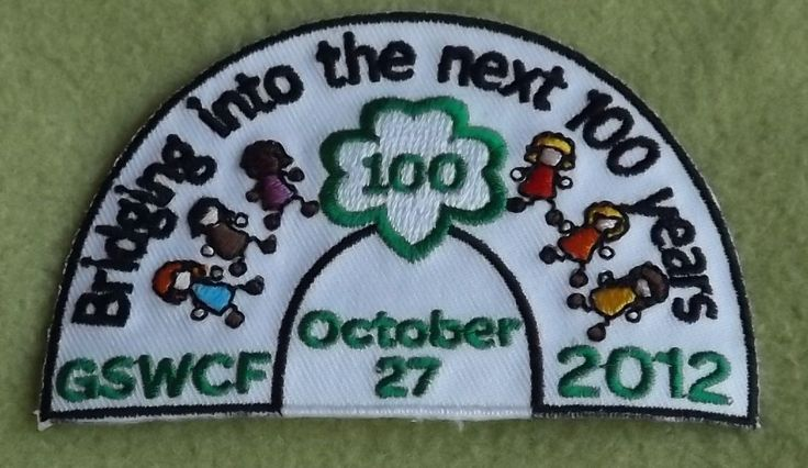 girl scouts west central florida 100th anniversary patch