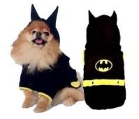 $28.95 - The #Bat #Dog #Costume features a comfort-stretch body that snaps along the belly, pointy ears on the hoodie and Batman-inspired logo on the back.  Available in sizes 0-6 at Sugar Chic Couture:  https://www.sugarchiccouture.com/ProductDetails.asp?ProductCode=BDC-029  #superhero #Batman  #dogs #shop #gifts #cute #buy
