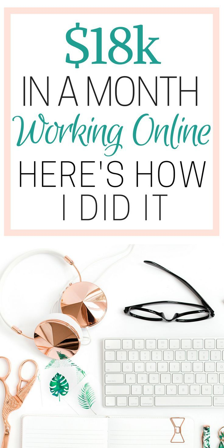 How she made over $18k in a month from working online is SO COOL! I'm so glad I found these GREAT work from home tips! Now I have some great ideas on how to make money online and work alone! Definitely pinning!