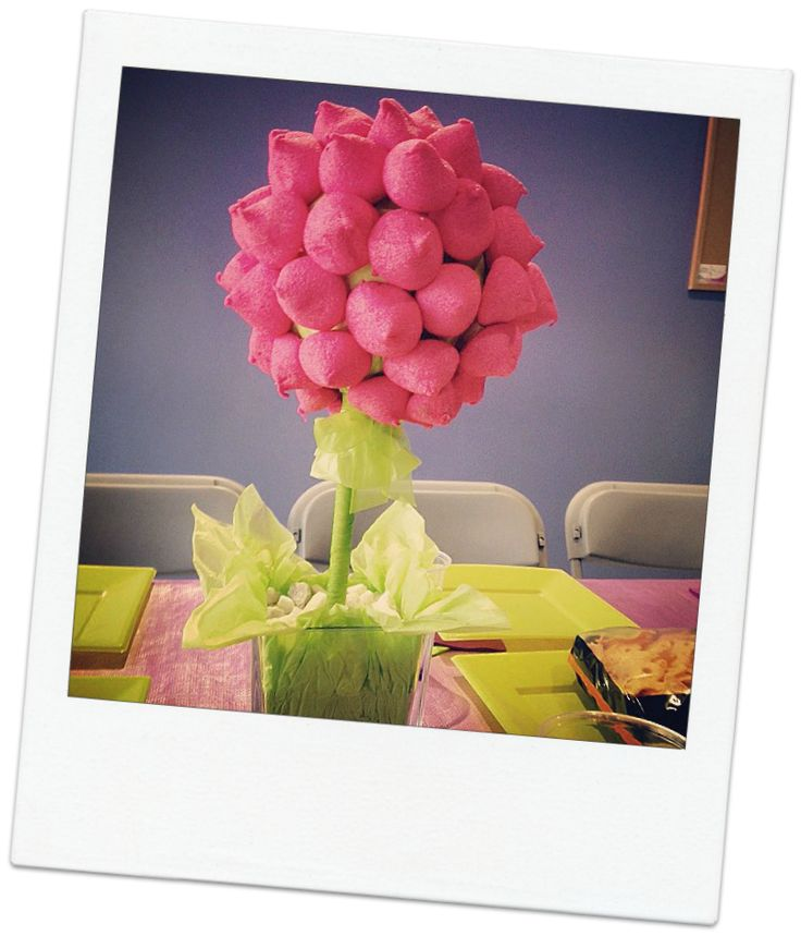 El taller de lady smile diy decora tu mesa con un rbol - Centro de mesa de chuches ...
