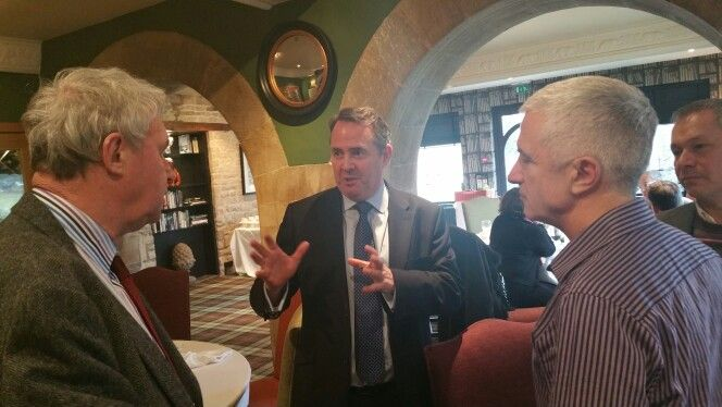 Lunch with Liam Fox, supporters and fellow Councillors