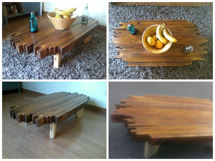 I liked the result of the sofa table I did before, so to make the set I made a coffee …
