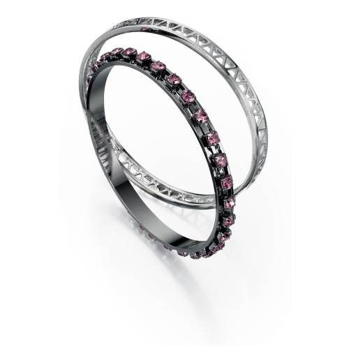 Fiorelli Bangle Set Pink and Gunmetal #Costume #Jewellery