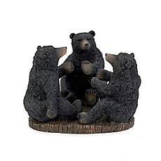 image of Avanti Black Bear Lodge Toothbrush Holder