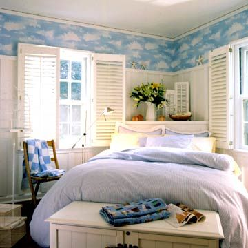 Fun Idea!      Shutter a Window - Install interior shutters. Shutters make great window treatments, but they can also be used to dress up bare interior walls.
