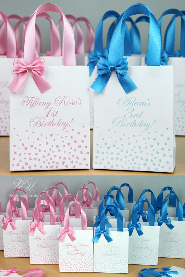 Birthday Gift Bags For Party Favors For Guests Thank Your Etsy In 2020 Party Favors Baby Birthday Birthday Gift Bags Birthday Party Favors