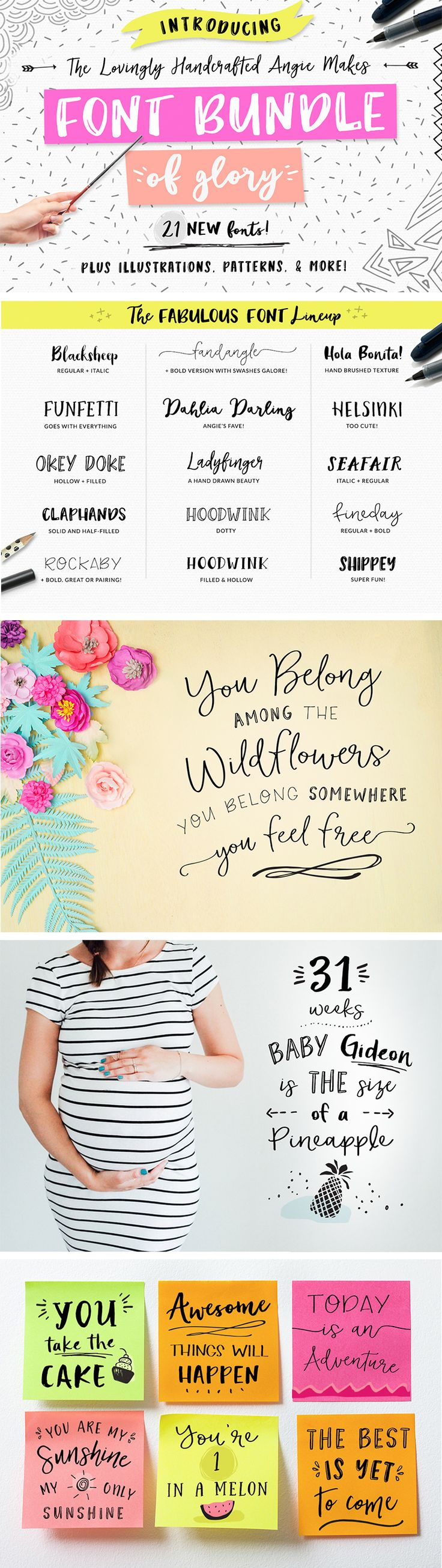 Angie Makes Font Bundle of Glory | angiemakes.com
