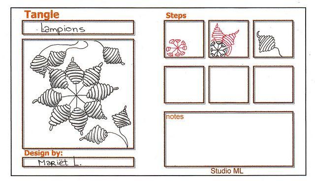 Lampions by Mariët DrontenDoodles Pattern, Tangle Patterns, Zen Tangled, Zentangle Instructions, Zentangle Art, Zentangle Doodles, Tangled Pattern, Zentangle Pattern, Zentangle Tutorials